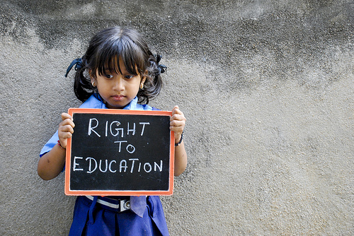 right to education in india Keen on learning and want to know all about educational facilities in india well, then this is the section to be in it gives you comprehensive information on all levels of education, be it primary, secondary, higher or university education, scholarships, loans, literacy schemes and so on.
